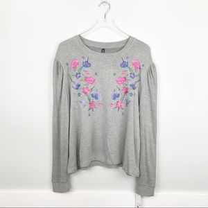 Massini by Stacy London Floral Embroidered Sweater